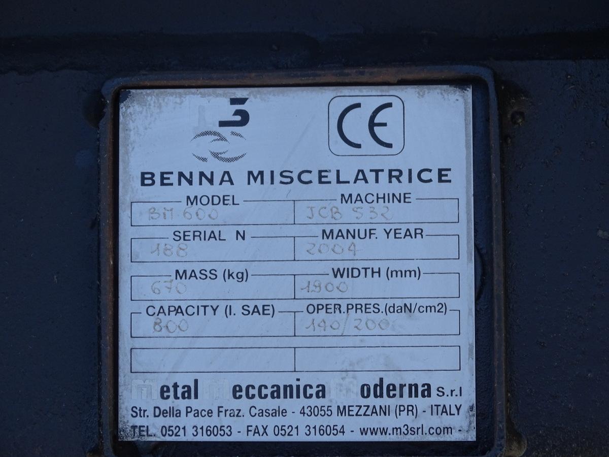 Benna miscelatrice BM600