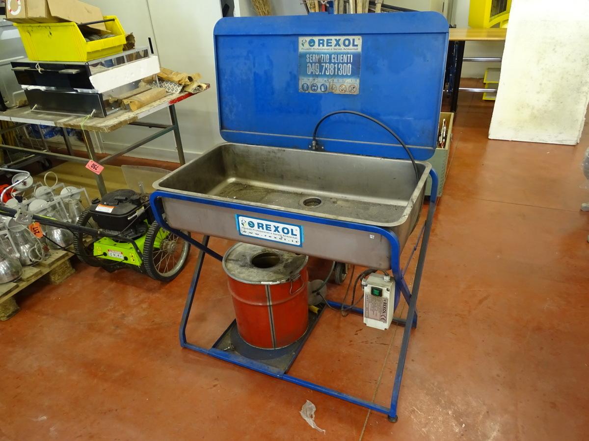 Lava pezzi manuale con vasca in acciaio inox
