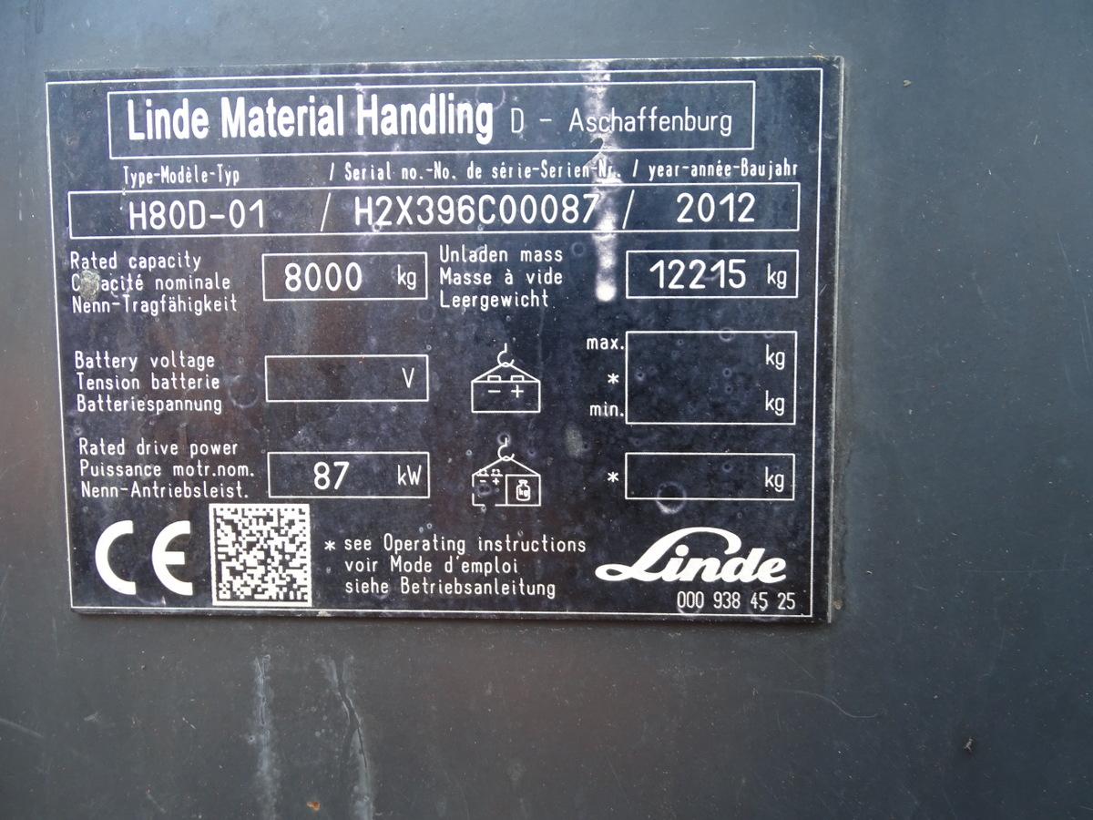 Carrello elevatore Linde H80D