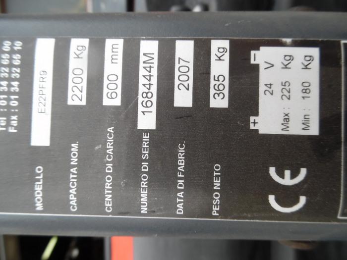 Transpallet elettrico usato