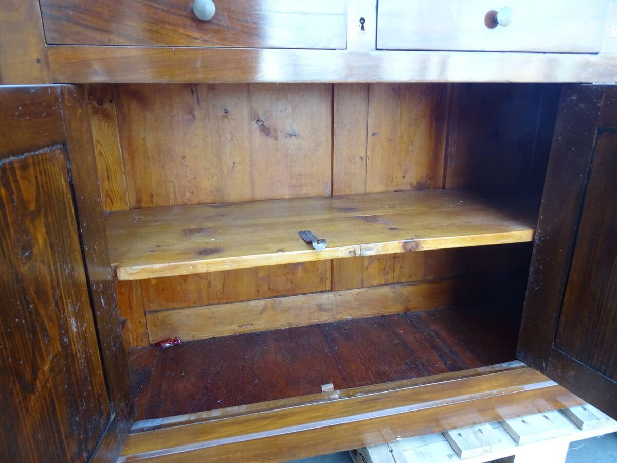 Credenza in legno usata a 4 ante